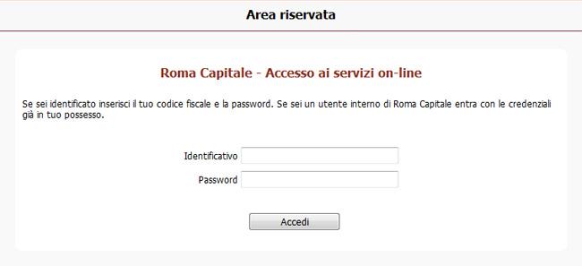 accesso ai servizi online