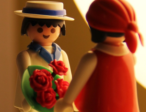 L'amore senza misura: Playmobil per San Valentino