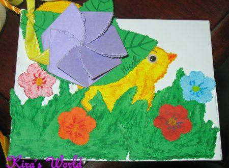 Il pulcino con le poesie di Pasqua