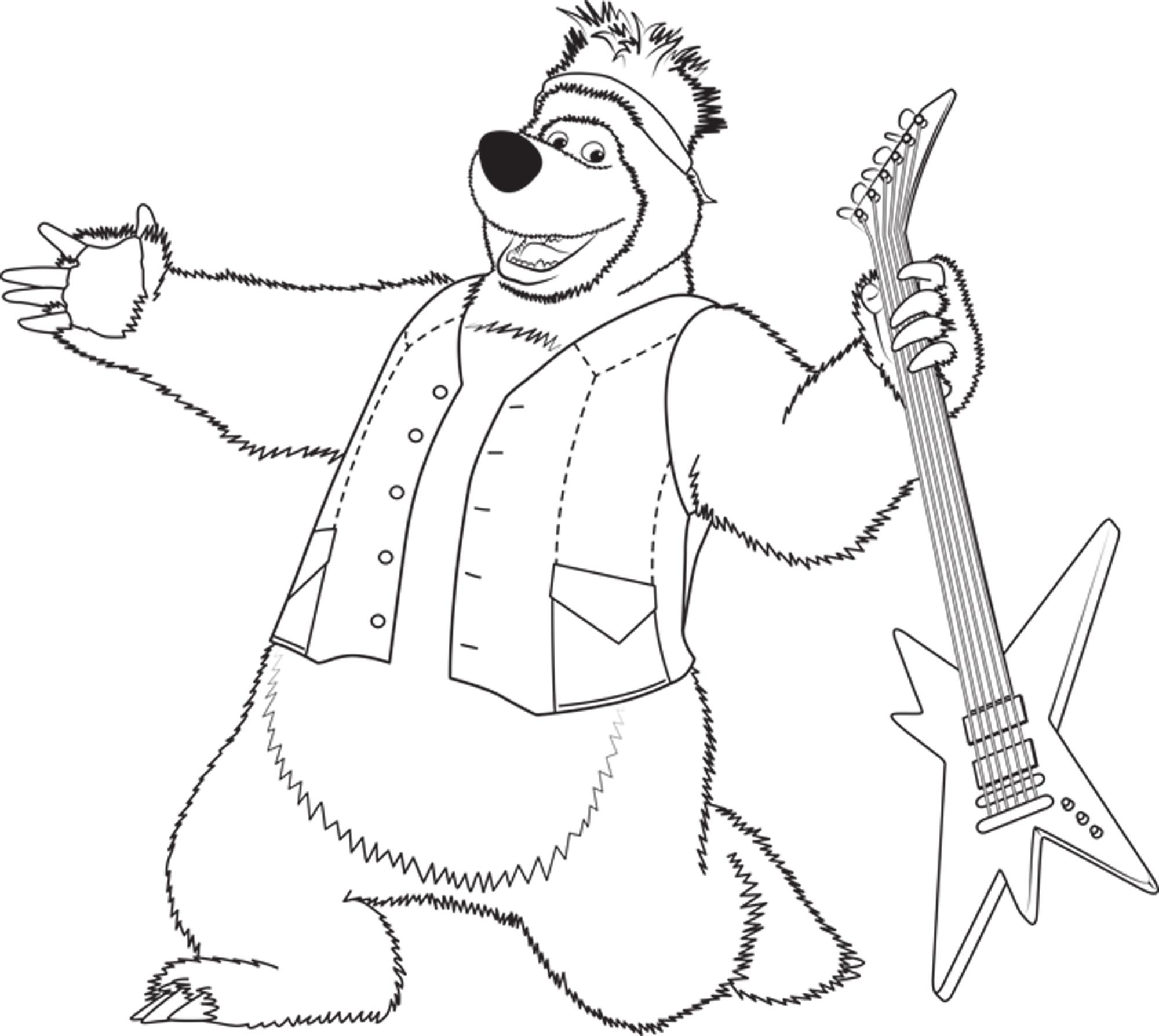 disegni da colorare sul computer masha e orso