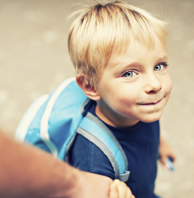 il bambino e l'idea della scuola