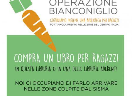 Operazione Bianconiglio: costruiamo una biblioteca per i bambini terremotati