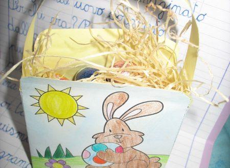 Cestino di Pasqua con un coniglietto