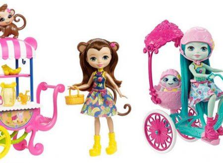 Enchantimals ed i loro amici cuccioli, le bambole di Mattel
