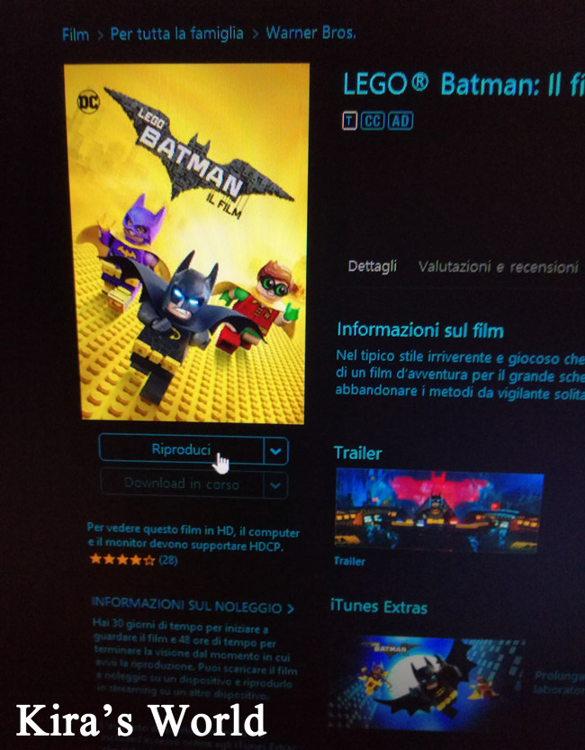 Lego Batman in digital download