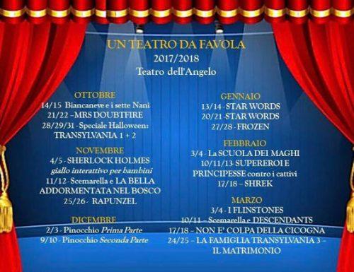 Teatro da Favola, la stagione teatrale 2017/2018