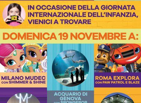 L'evento di Nickelodeon e NickJr per la Giornata Internazionale dei diritti dell'infanzia