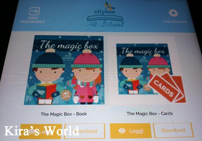 Libro e carte sull'app