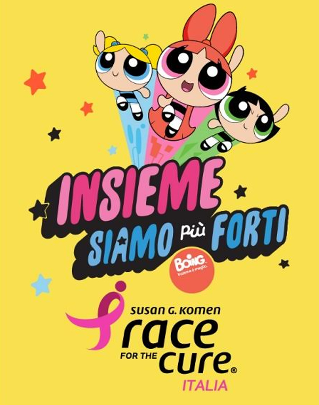 Le Powerpuff Girls alla Race for the Cure