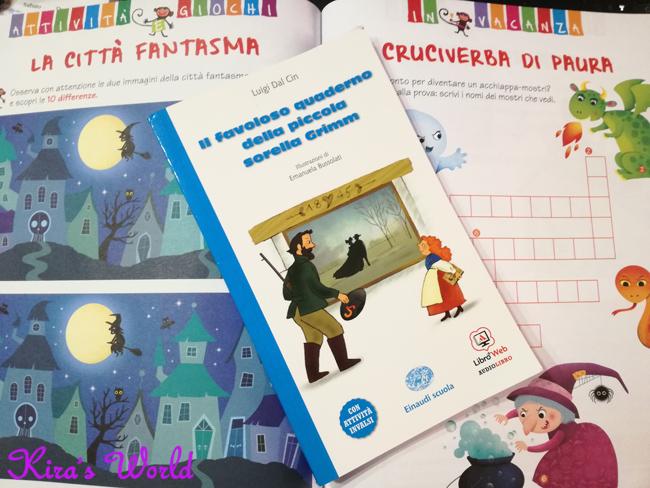 Libro con compiti delle vacanze
