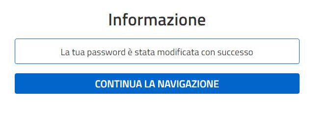Password modificata