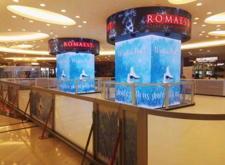 La pista di pattinaggio sul ghiaccio a RomaEst
