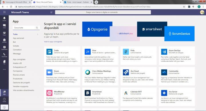 App di Microsoft Teams