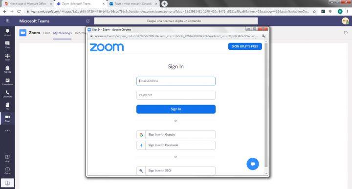 Iscriversi a Zoom