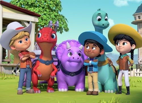 Dino Ranch, la serie animata tra cowboy e dinosauri