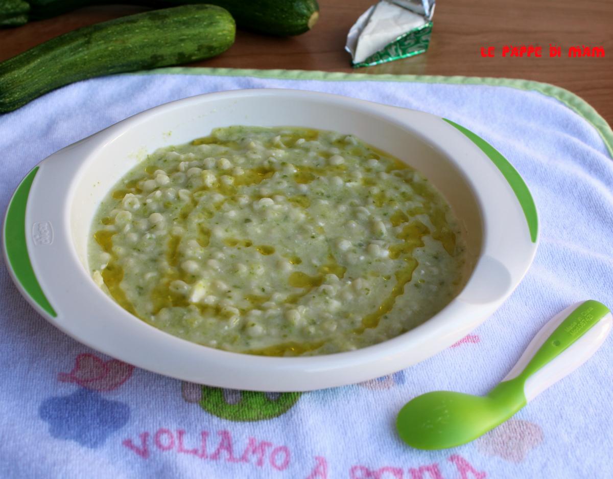 Ricette Estive Neonato 9 Mesi.Pastina Zucchina E Formaggino