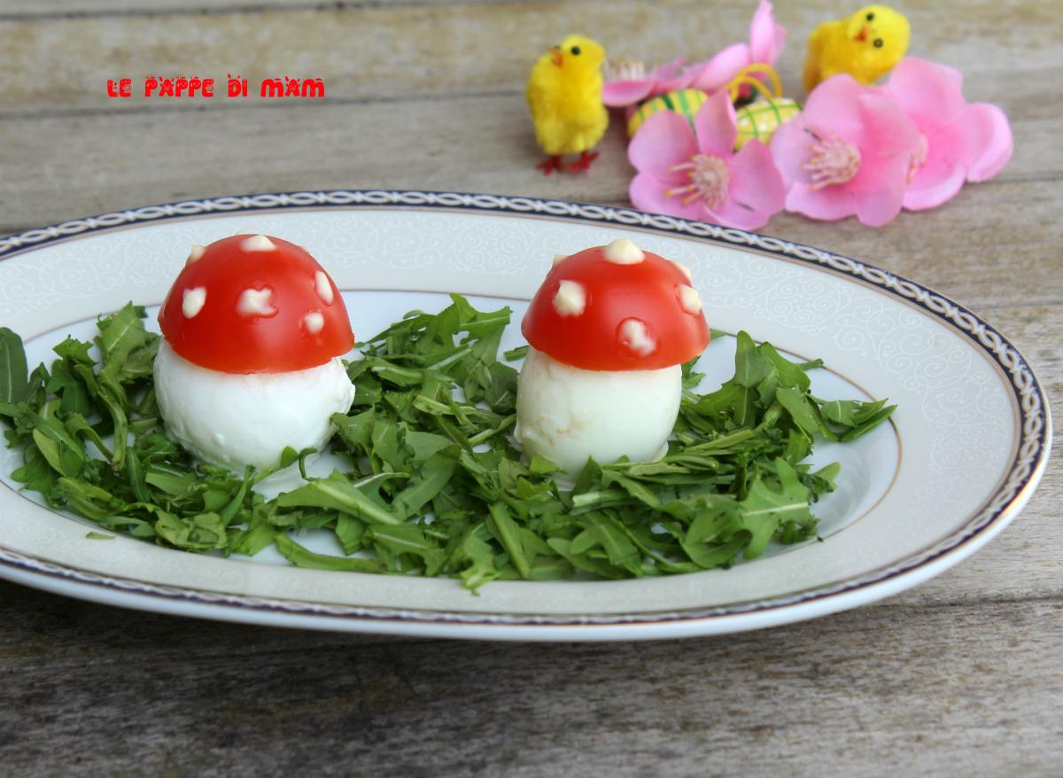 Uova funghetto le pappe di mam - Uova di pasqua decorate per bambini ...