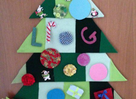 Albero di Natale in feltro – per bambini piccoli