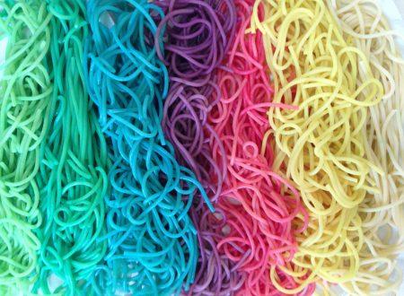 Spaghetti arcobaleno