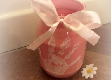 Vasetto con impronta per la festa della mamma