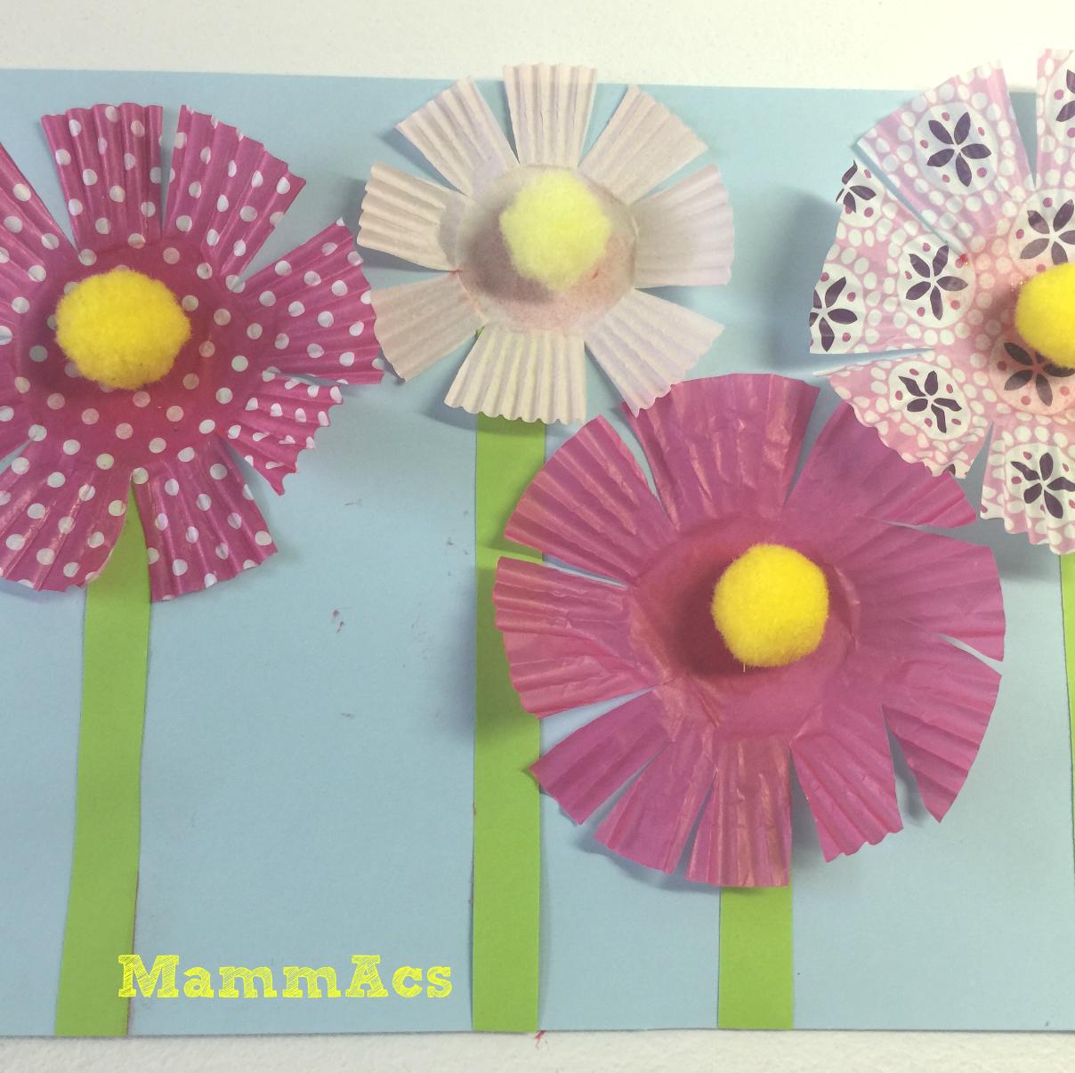 Lavoretto veloce fiori di carta mammacs for Fiori semplici