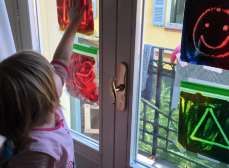 Disegni magici alla finestra