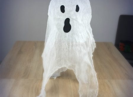 Decorazioni di Halloween – fantasma di garza