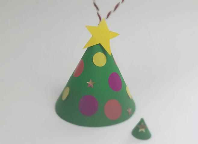 Alberi Di Natale Di Carta.Lavoretto Di Natale Albero Di Carta