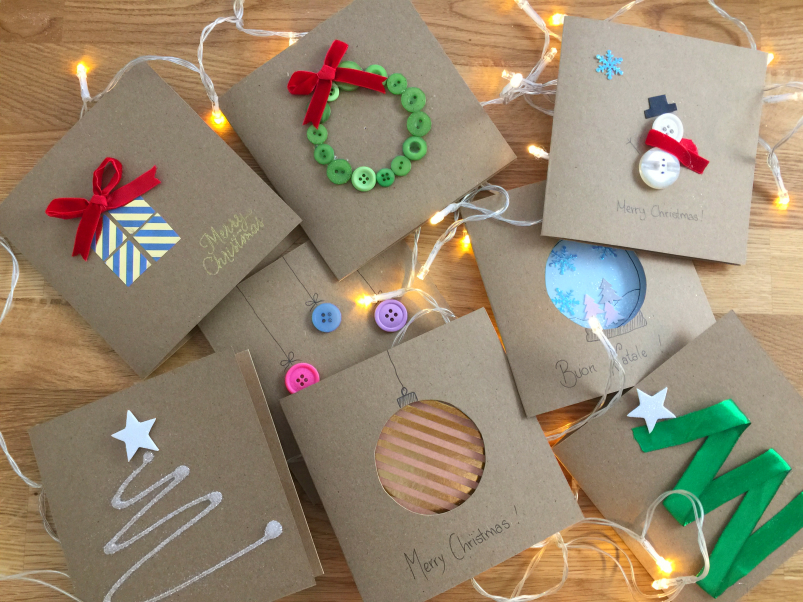 Eccezionale Biglietti di Natale fai da te | MammAcs TS71