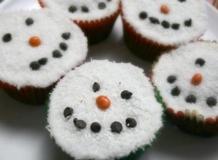 Cupcakes pupazzi di neve – cioccolato e cocco