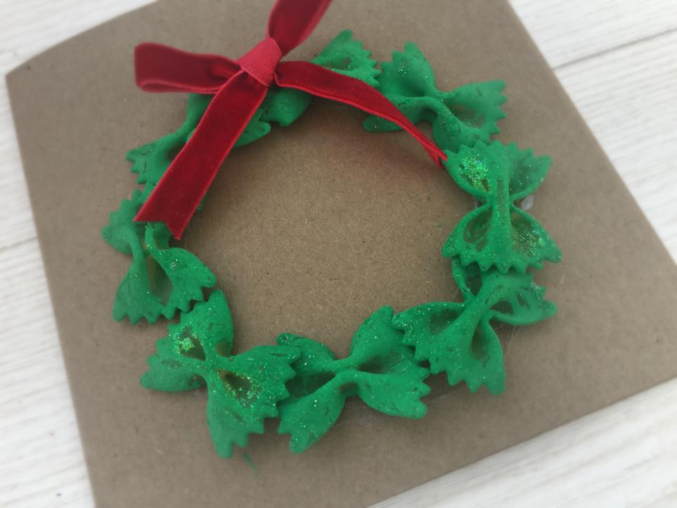 Conosciuto Ghirlanda natalizia di pasta | MammAcs GN14