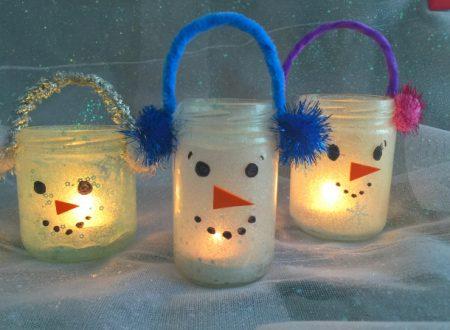 Lanterne di Natale – pupazzi di neve
