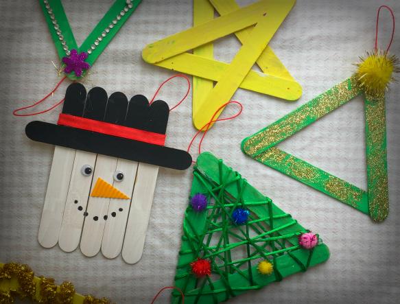 Addobbi natalizi con bastoncini gelato mammacs for Addobbi per la classe natale