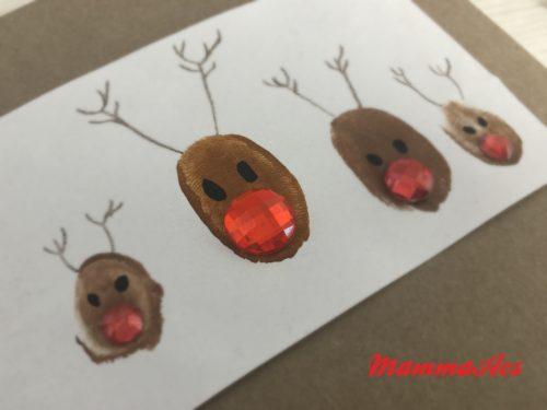 Lavoretto di Natale – biglietto famiglia renne