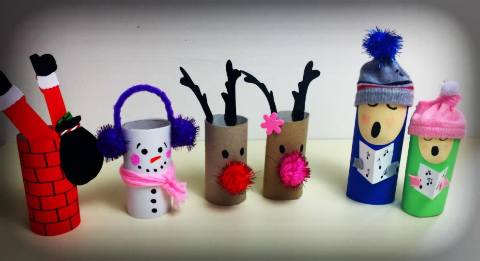 Lavoretti di Natale con rotoli di carta igienica vuoti  MammAcs