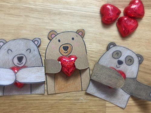 Porta cioccolatino a forma di orsetto