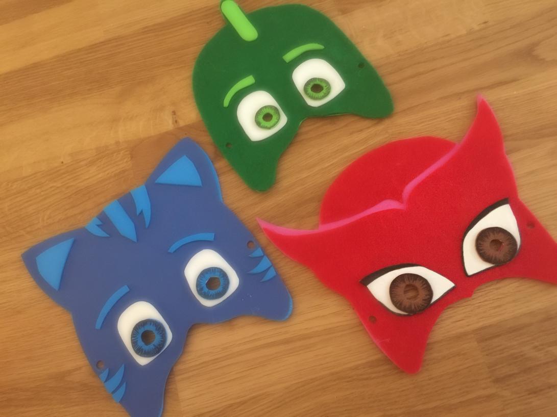 Maschere di carnevale super pigiamini pj mask mammacs for Super pigiamini da colorare e stampare