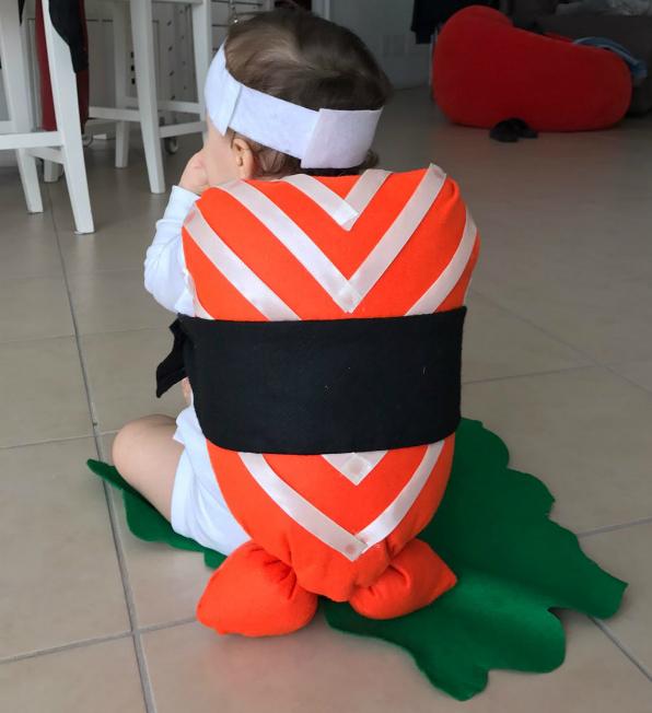 Costume da sushi per bambini piccoli mammacs for Cuscino sushi