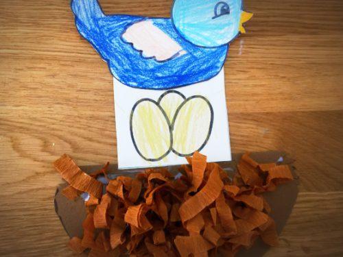 Lavoretto Primavera – uccellino nel nido