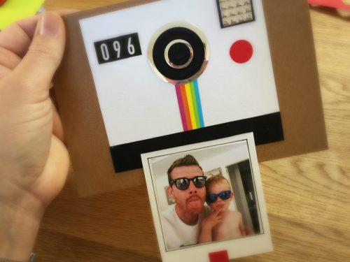 Biglietto polaroid per la festa del papà