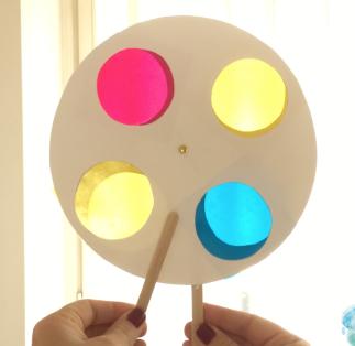 Disco rotante colori primari