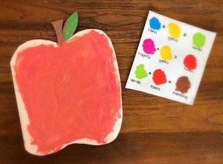 Lavoretto per insegnare a mischiare i colori primari