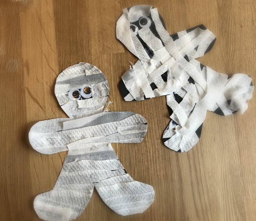 Famoso Lavoretto Halloween - mummie di carta | MammAcs ZN31