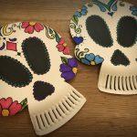 Teschi messicani con piatti carta
