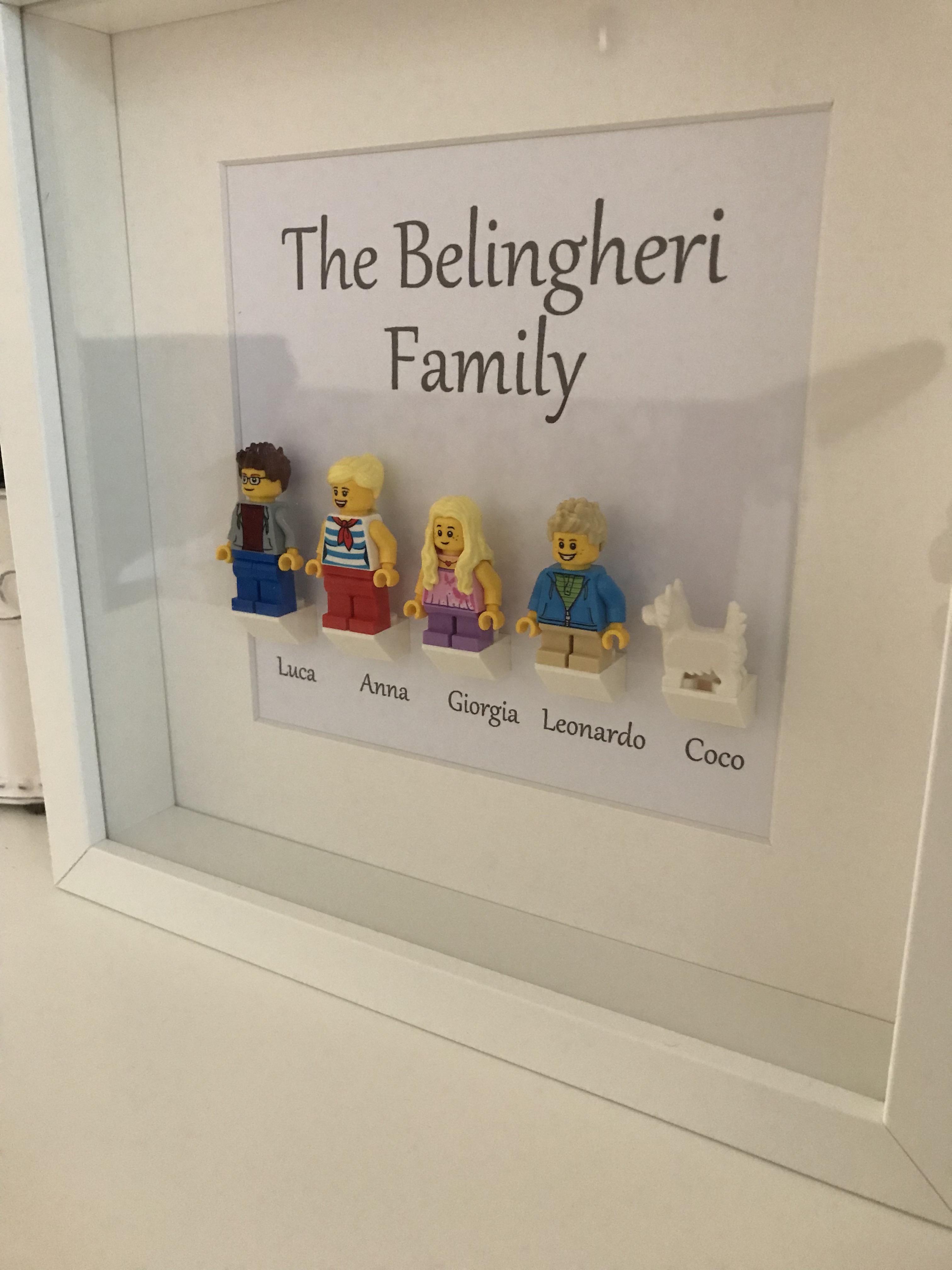 Idea regalo di Natale – Famiglia Lego personalizzata