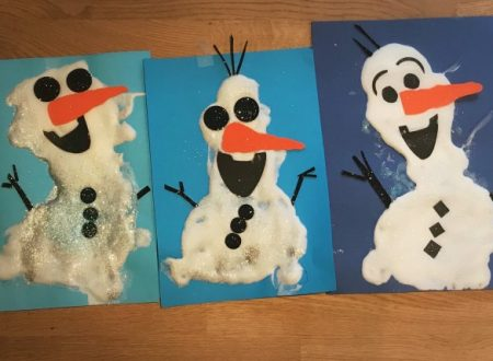 Olaf puffy paint