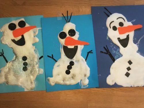 Olaf puffy paint