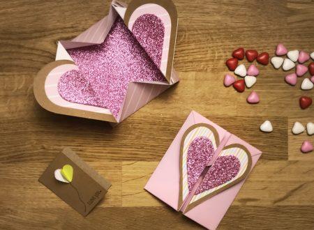 scatola origami con cuore