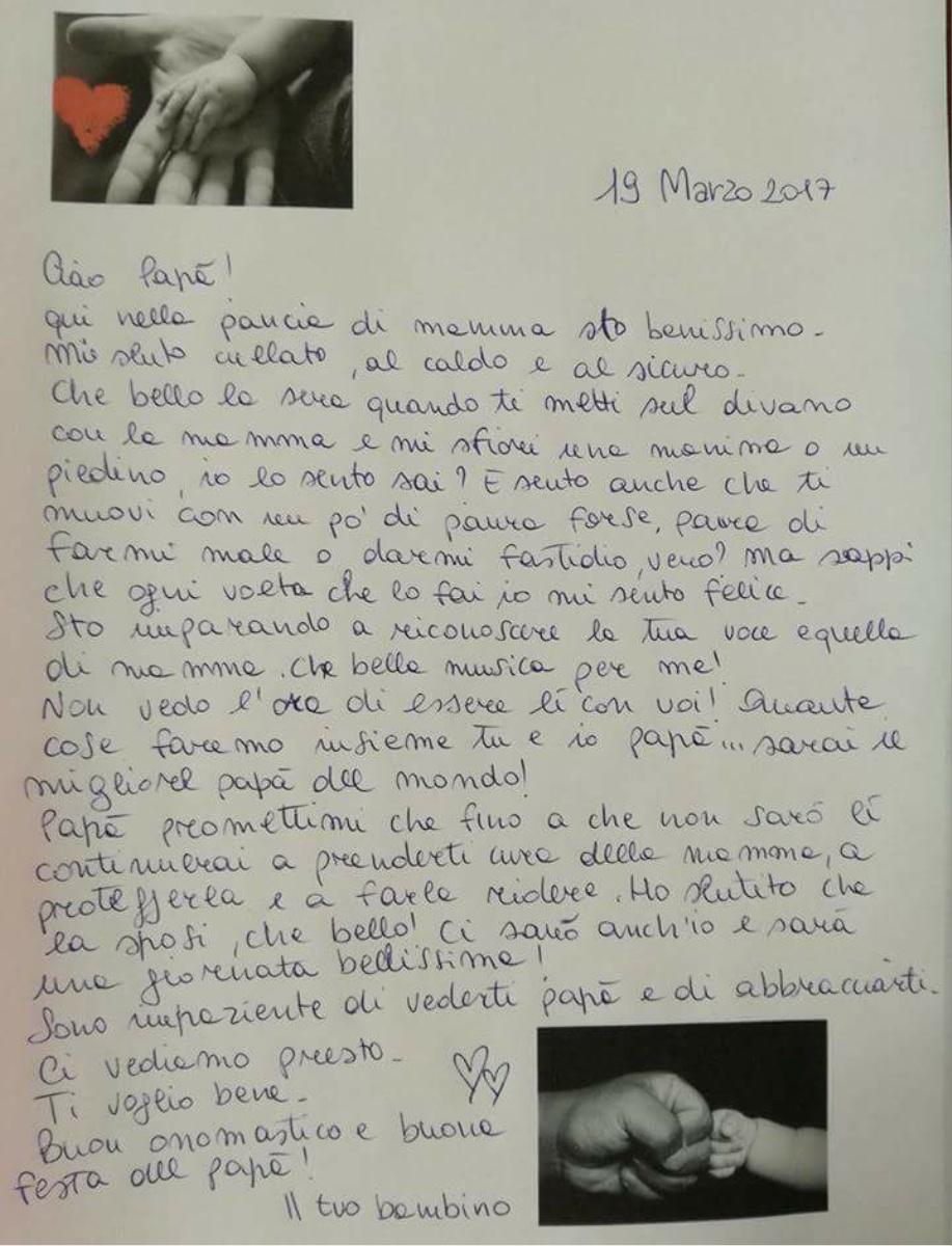 Lettera A Papà Mamma E Figlio