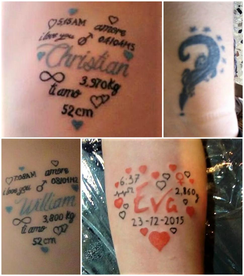 tatuaggi da dedicare ai propri figli e alla propria
